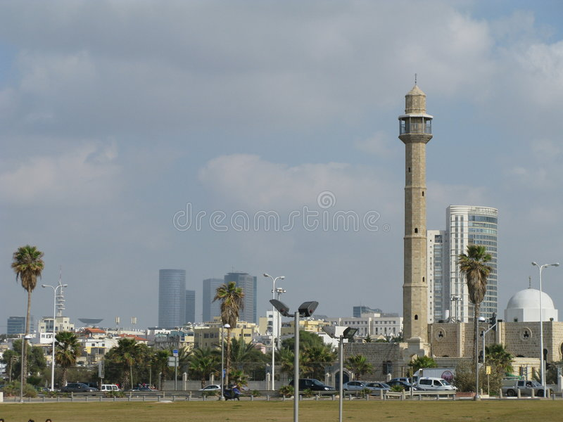 Panorama, Tel Aviv Israel stock photo