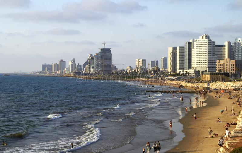 Panorama of Tel Aviv summer July royalty free stock photo