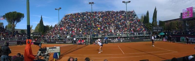 Panorama tenisowy Brindisi Serena Williams Brindisi karmił filiżankę 2015 fotografia royalty free