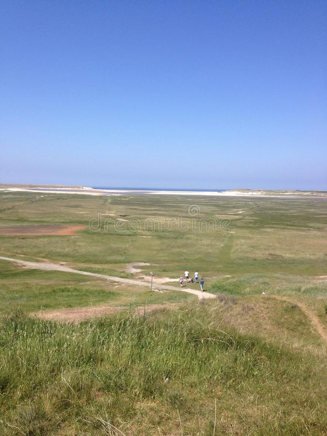 Panorama Texel stock photo
