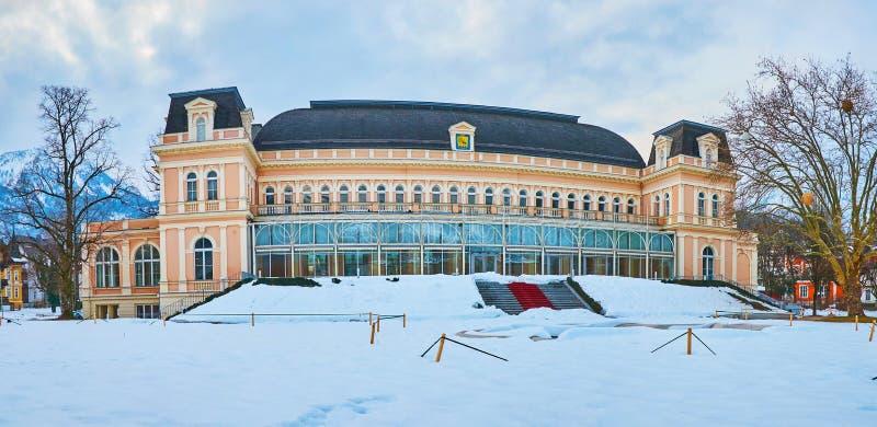Panorama of Theater House in Bad Ischl, Salzkammergut, Austria stock image