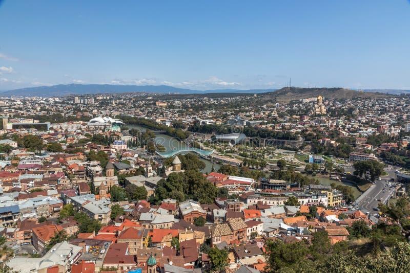 Panorama Tibilisi, Gruzja zdjęcia royalty free