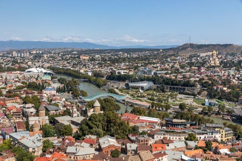 Panorama Tibilisi, Gruzja obrazy stock