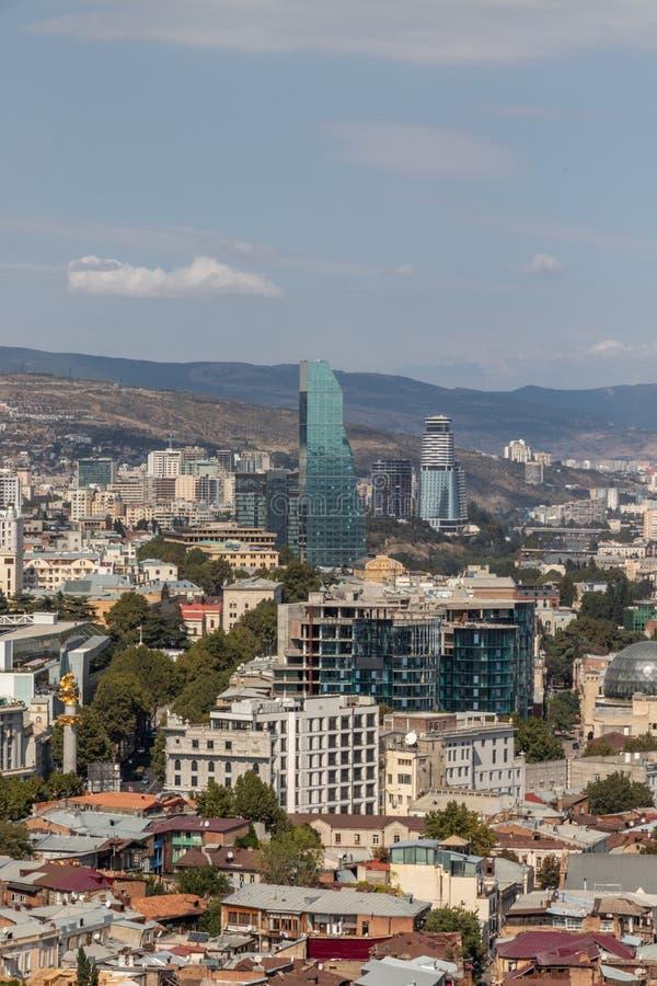 Panorama Tibilisi, Gruzja zdjęcie stock