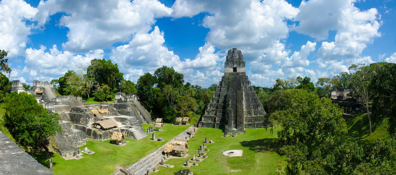 Panorama Tikal Gwatemala zdjęcia royalty free