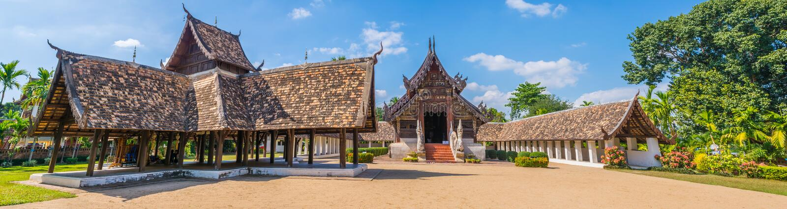 Download Panorama Tiré De Wat Ton Kain, En Chiang Mai Thailand Image stock - Image du conception, antique: 76087151