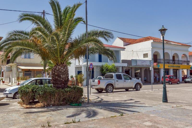 Panorama to Sami town, Kefalonia, Ionian islands, Greece stock images