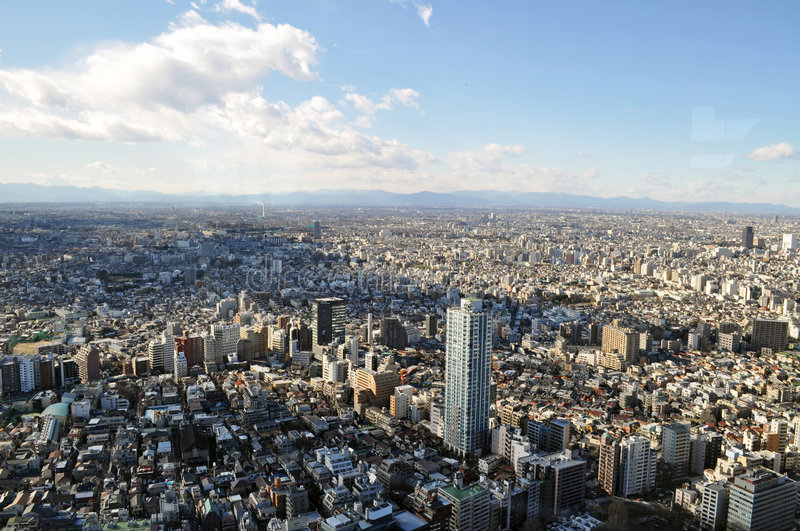 Download Panorama of Tokyo stock photo. Image of blue, building - 7975806