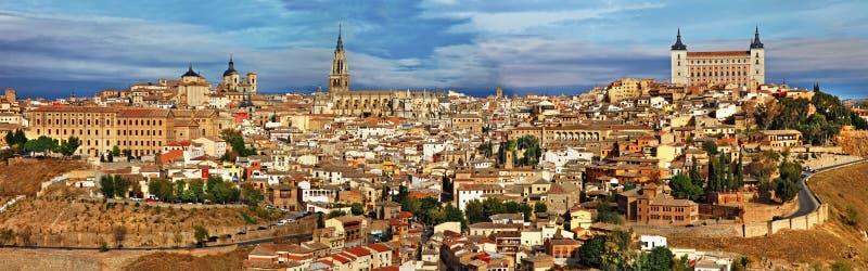 Panorama of Toledo. Medieval Spain - Toledo city, panoramic view stock photography