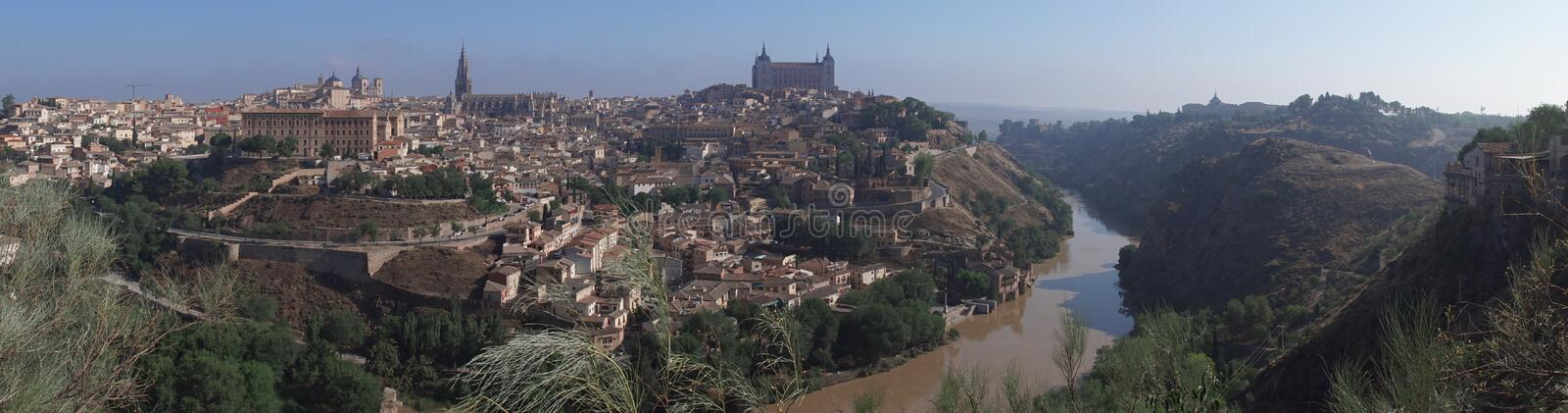 Panorama of Toledo stock photography