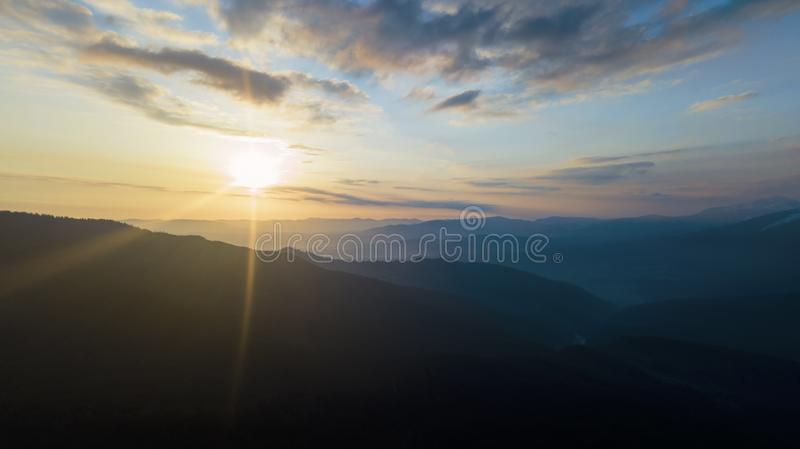 Panorama Top view Aerial photo from flying drone. stock images