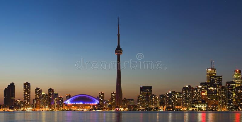 Panorama of Toronto skyline at royalty free stock image