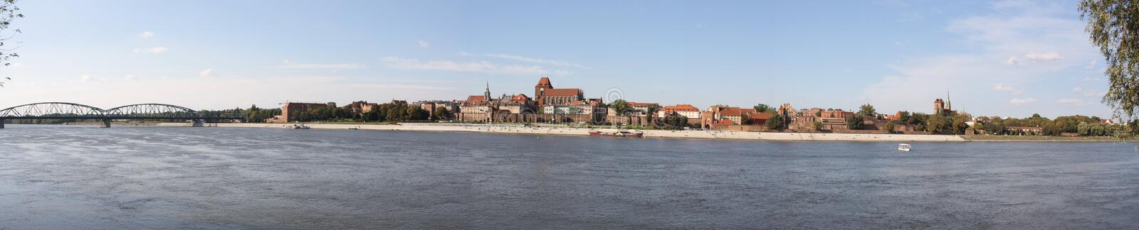 Panorama of Torun stock images
