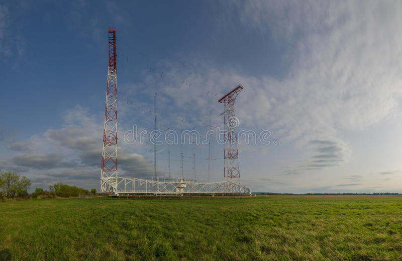 Panorama transmissor do sistema fotografia de stock