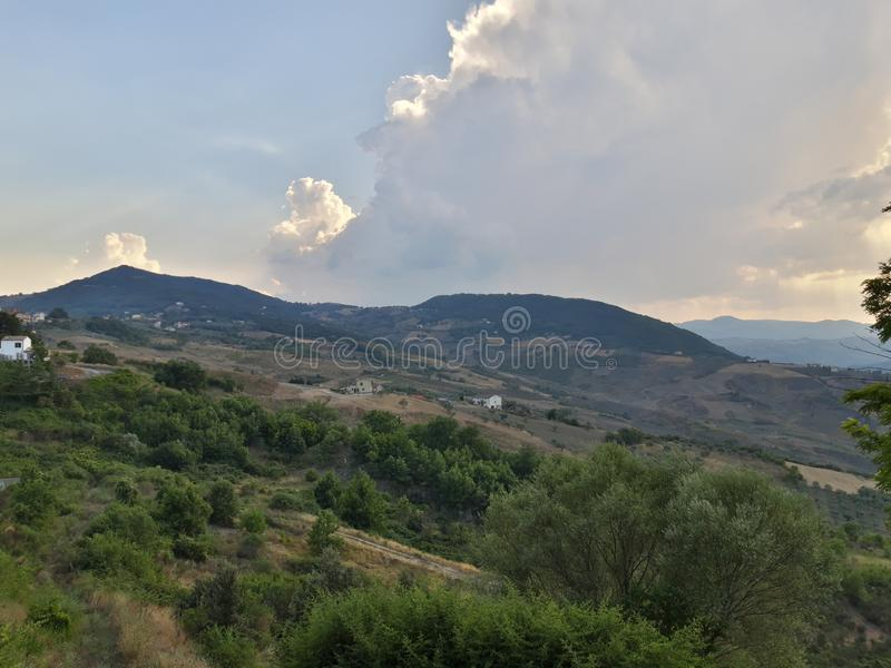 Panorama from Trivento, a delicious small town in Molise royalty free stock images