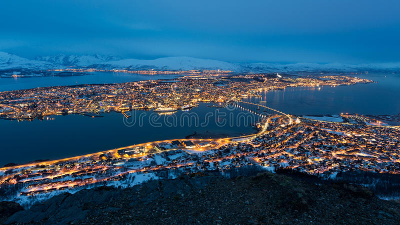 Panorama Tromso imagens de stock royalty free