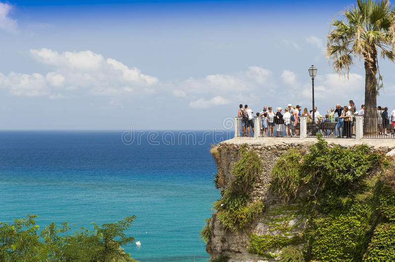 Panorama of tropea stock image