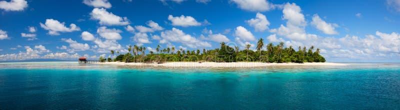Panorama tropical do console foto de stock royalty free