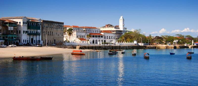 Panorama tropical do litoral fotos de stock royalty free