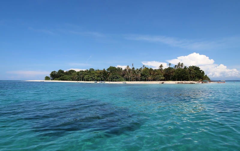 Panorama on a tropical island royalty free stock image