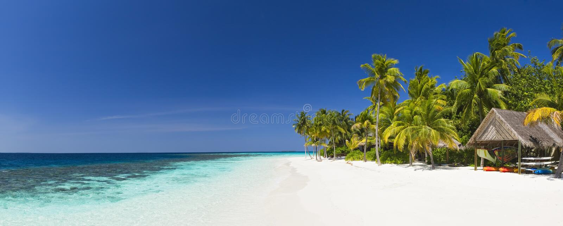 Download Panorama Of Tropical Island Resort Stock Image - Image of tree, maldives: 5117671