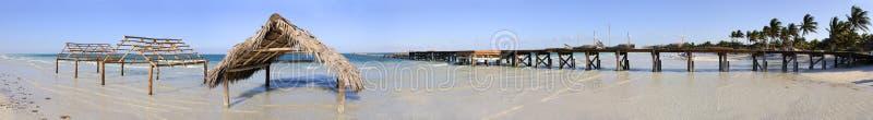 Panorama tropicale della spiaggia immagini stock libere da diritti