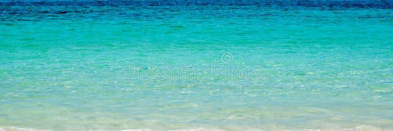 Panorama tropikalna laguna z turkus wodą obraz stock