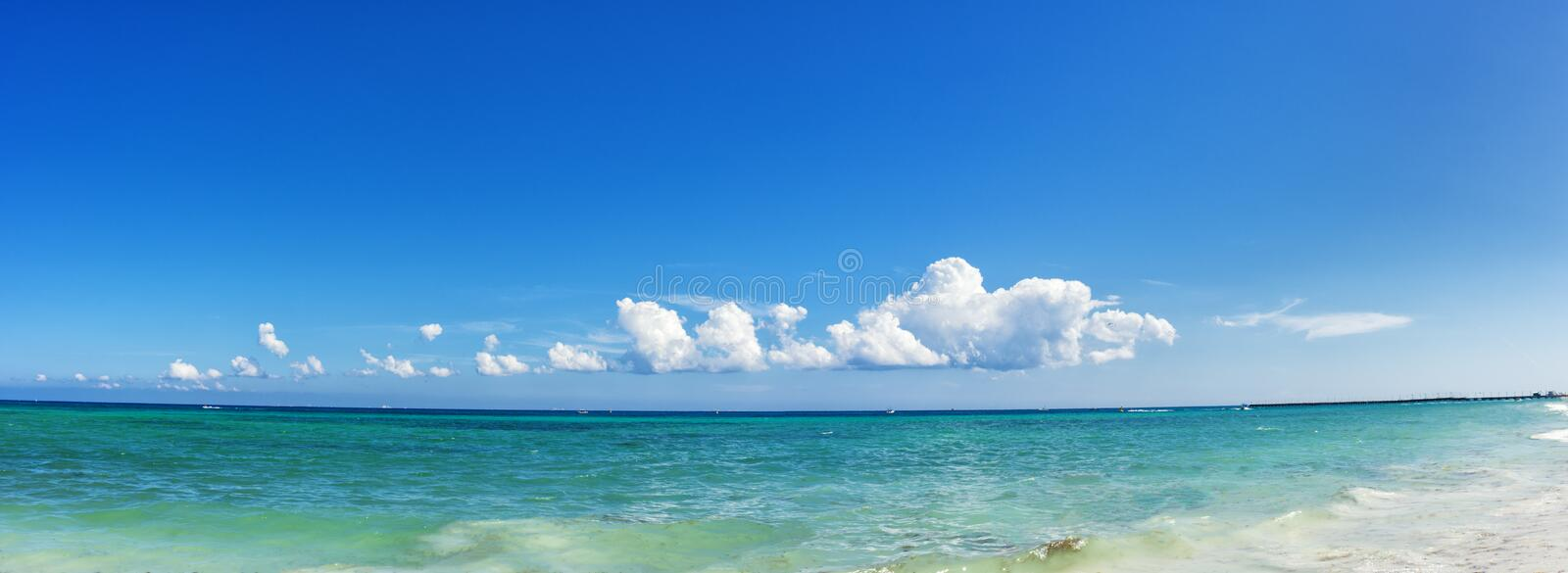 Turquoise beach at Playa del Carmen, Mexico. stock images