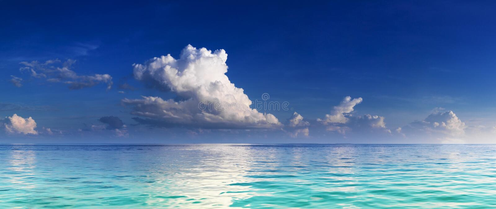 Download Panorama Of Turquoise Lagoon Stock Photo - Image: 4849740