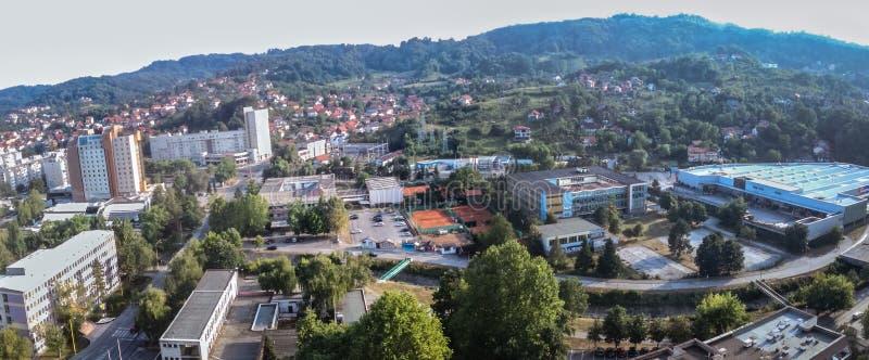 Panorama Tuzla stockfotografie
