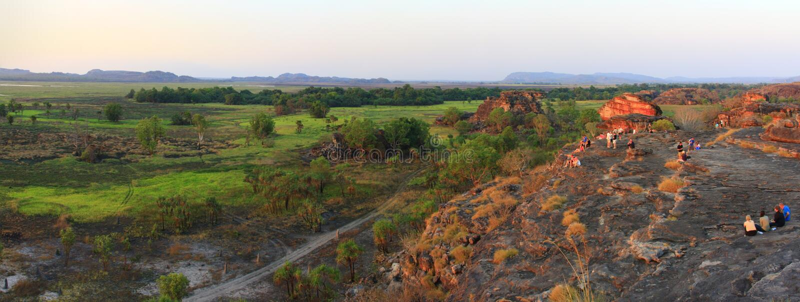Panorama Ubirr, parc national de kakadu, Australie photo stock
