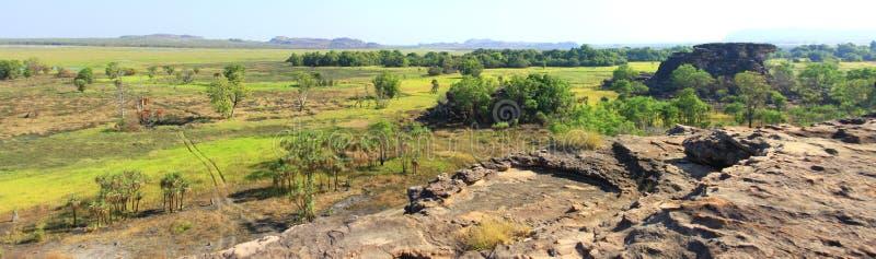 Panorama Ubirr, parc national de kakadu, Australie images libres de droits