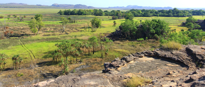 Panorama Ubirr, parc national de kakadu, Australie image libre de droits