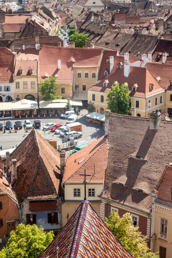 Panorama urbain, Sibiu, la Transylvanie, Roumanie image libre de droits