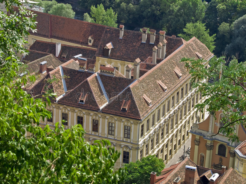 Panorama urbano - Graz fotografia de stock