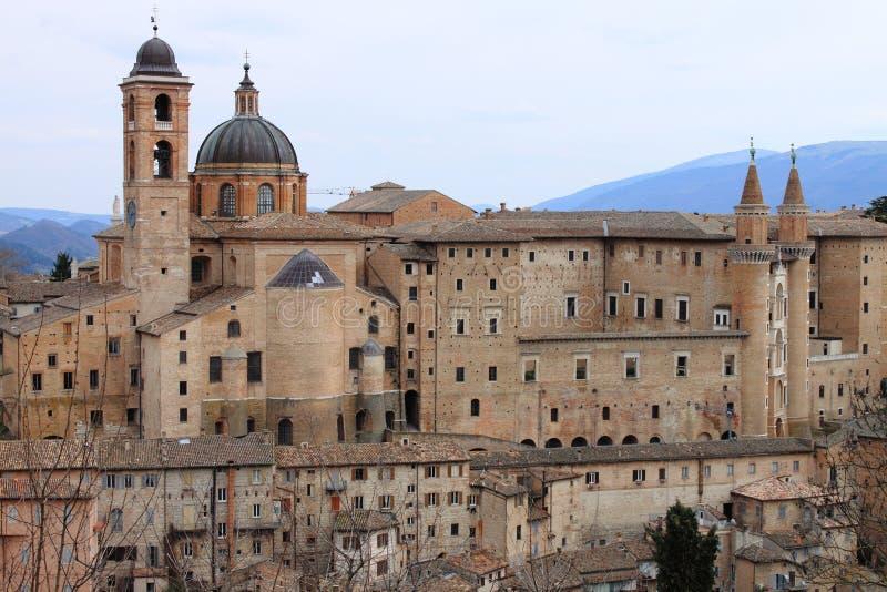 panorama Urbino fotografia stock