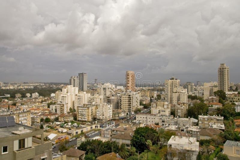 Panorama vóór een regen stock afbeelding
