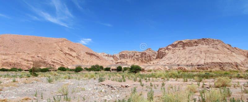 Panorama Valle Quitor, San Pedro de Atacama lizenzfreies stockfoto