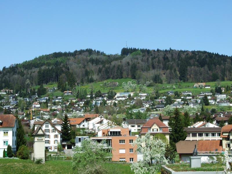 Panorama van Abtwil royalty-vrije stock foto's