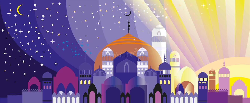 Panorama van Arabische stad vector illustratie