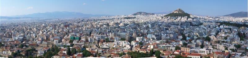 Panorama van Athene stock afbeelding