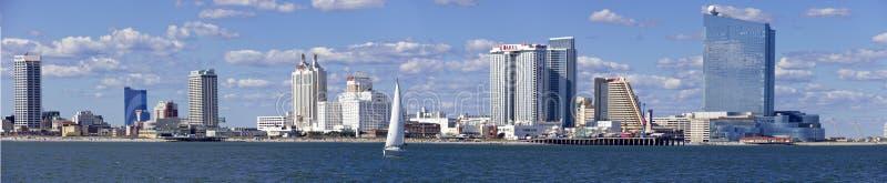 Panorama van Atlantic City, New Jersey stock foto's