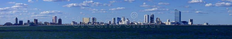 Panorama van Atlantic City, New Jersey van de oceaan stock fotografie