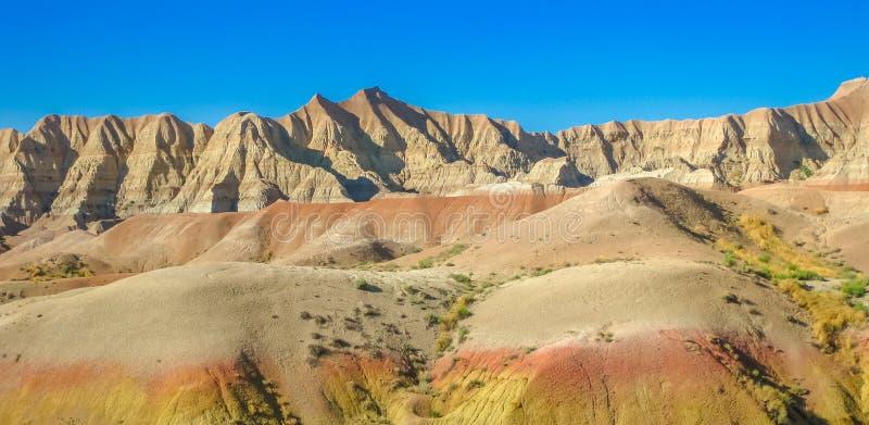 Panorama van Badlands NP stock afbeeldingen