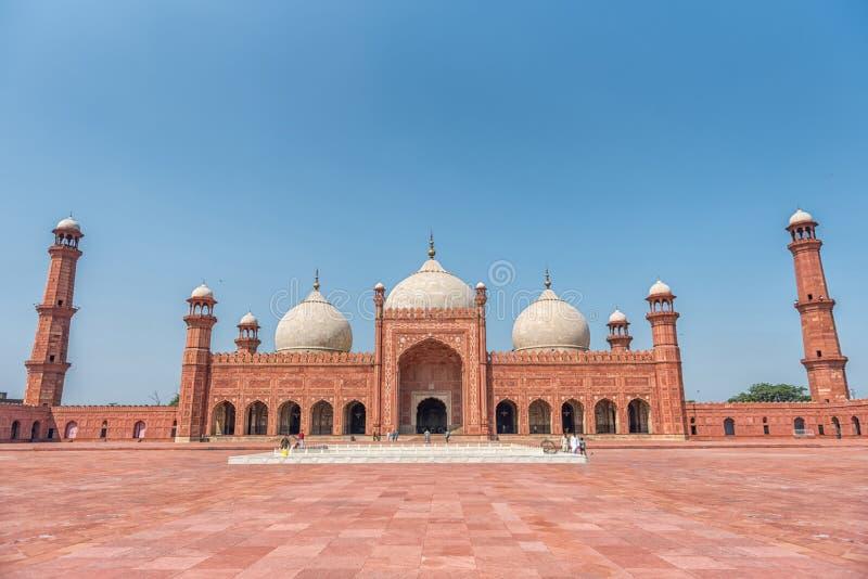 Panorama van Badshahi-Moskee stock afbeeldingen