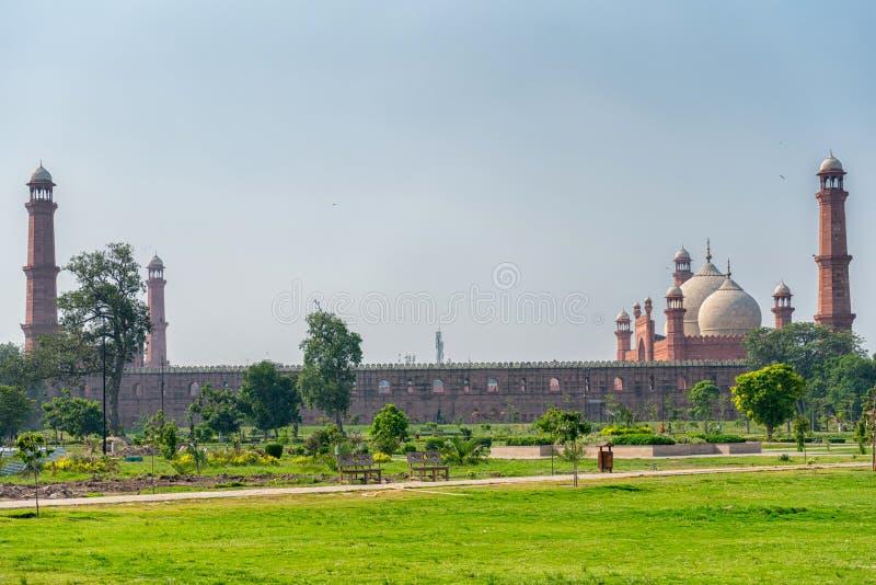 Panorama van Badshahi-Moskee royalty-vrije stock foto