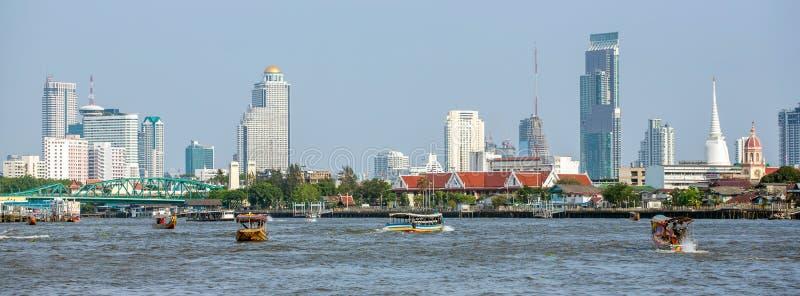 Panorama van Bangkok de stad in stock foto