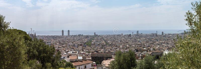 Panorama van Barcelona royalty-vrije stock afbeeldingen