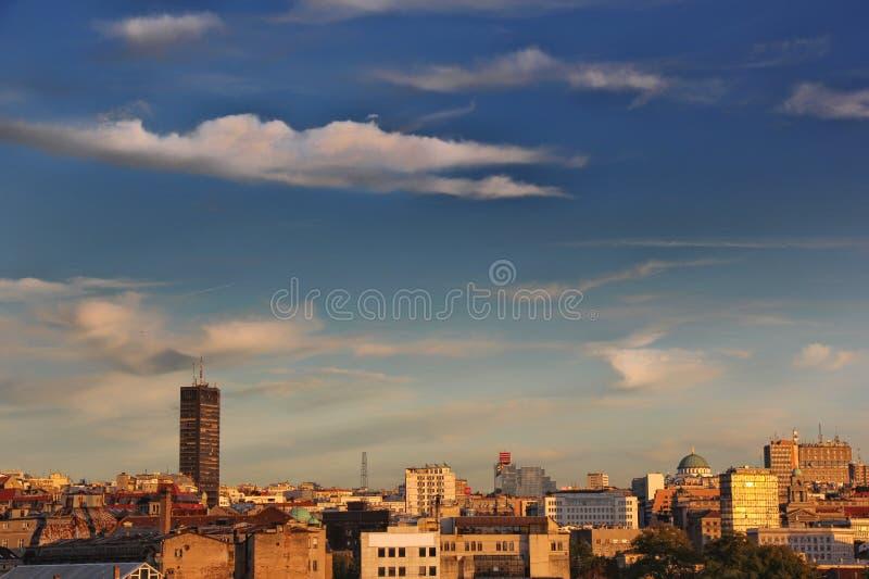 Panorama van Belgrado royalty-vrije stock fotografie