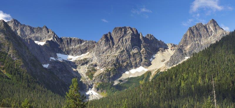 Panorama van Bergen in het Cascades Nationale Park, Washington royalty-vrije stock afbeelding